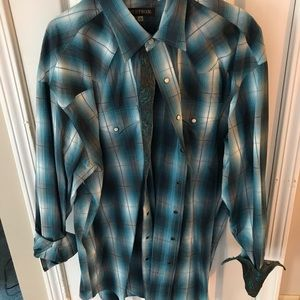 Blue and Brown Stetson Shirt